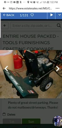 craftsman snow blower  has and electric