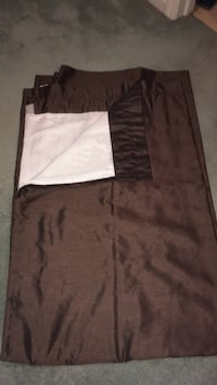 Two pair brown room darking  84 inches long curtains Toledo, 43614