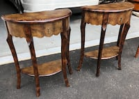 Set of half moon accent tables-Bombay Furniture Company HARTFORD