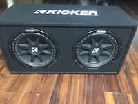 black Kicker subwoofer with enclosure Sun Valley, 89433