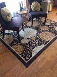 black and brown floral area rug 733 km