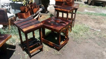 Set 3 pc rustic tables/ plant stands.