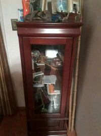 brown wooden framed glass display cabinet Lafayette, 94549