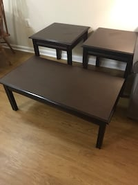 Rectangular wooden coffee table and two end tables Alexandria, 22305