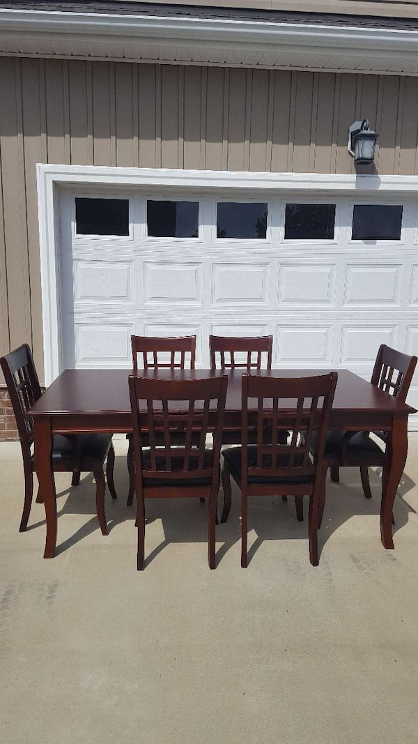 used havertys extendable dining room table with 6 chair