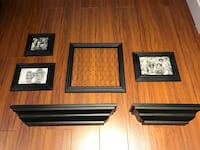 Papyrus floating shelves and picture frame
