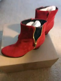 Red Suede Ankle Boots  Silver Spring, 20910