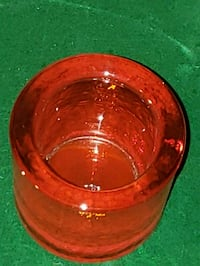 """ROUND """"RUBY RED"""" CANDLE HOLDER Riverside, 92509"""