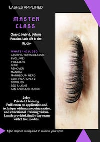 Eyelash training  Brampton