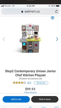 Step 2 contemporary chef play kitchen brand new open box  NEW
