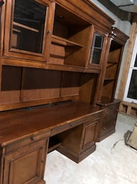 brown wooden hutch cabinet Colts Neck, 07722
