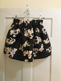 Women's black and cream floral skirt Apex, 27502