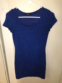 Forever 21 ruffled blue bodycon dress size small  Toronto, M5R