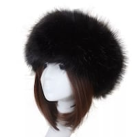 'Black Swan' Fur Headband