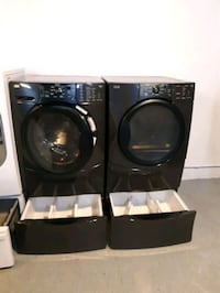 KENMORE FRONT LOAD WASHER AND DRYER SET WITH PEDESTAL WORKING PERFECTL Baltimore, 21223