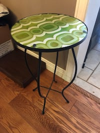 FUNKY RETRO WROUGHT IRON SIDE TABLE North Dumfries, N0B