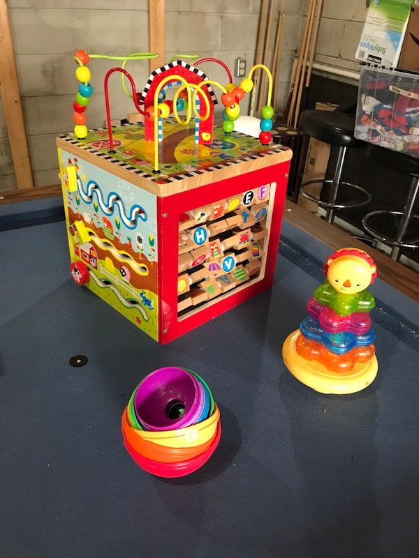 Baby toys - Activity Block, Stacking Cups, and Stacking Tower
