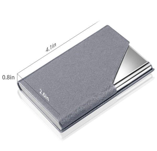d7f2de31bd38 Business Card Holder Case, Professional Slim Name Card Case Credit Card ID  Holder PU Leather&Stainless Steel Metal Wallets with Magnet Shuts for ...