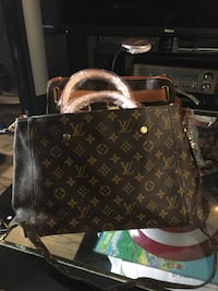 brown Louis Vuitton monogram leather tote bag Ajax, L1S 3R3
