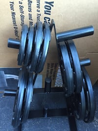 PAIR OF 45LB. Rubber plates  Deerfield Beach, 33442