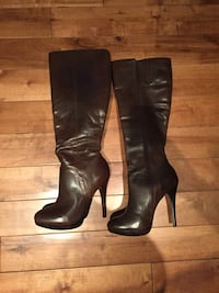 NWT-Aldo Brown Leather Stiletto Boots*reduced* Whitby, L1R 1W6