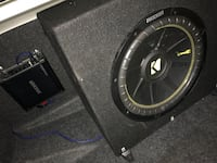 black Kicker subwoofer with enclosure Washington, 20032