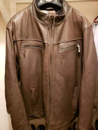Genuine Harley Davidson Brown Leather Jacket Size  Pearl, 39208
