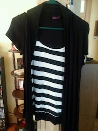 black and white stripe sleeveless dress Morristown, 37814