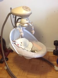 Holding-Baby's neutral Fisher-Price cradle n swing Toronto, M4B 1A9