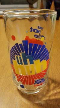 Diet Pepsi Collectible glass