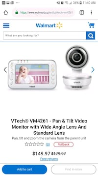 Vtech baby monitor and camera $99! Westbank, V4T 2H2