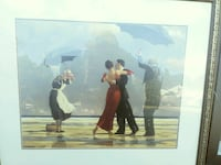 painting of man and woman dancing with gray wooden Columbia, 29201