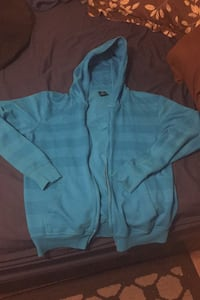 Blue zipup sweater medium