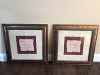 two brown wooden framed wall decors Bayport, 11705