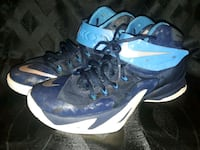 pair of blue-and-white Nike basketball shoes Lawrenceville