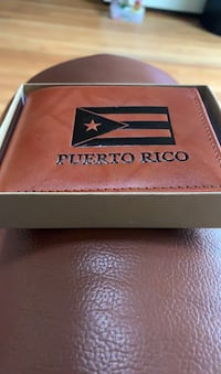 Brown leather Puerto Rico wallet Croton-on-Hudson, 10520
