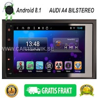 AUDI A4 S4 RS4 2002 til 2007 Android 8.1 Multimedia Bilstereo STOCKHOLM