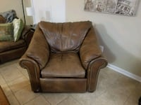 Bassett leather sofa and arm chair Forest Hill, 21050