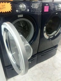 black front-load washer and dryer set Bethesda, 20814