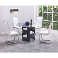 Grey High gloss 5 Piece Dining Set  *****FREE DELIVERY *****FINANCING AVAILABLE Las Vegas