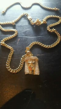 1 baby cuban link chain with pendent  Utica