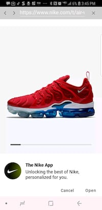 unpaired red and black Nike Air Max shoe screensho 51 mi