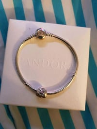 Pandora braclet and one charm.  With receipt
