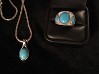 925 turquoise necklace and ring set Glen Burnie, 21061