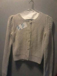 gray button-up knitted cardigan Sonoma, 95476