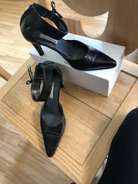 Ankle strap black leather shoes Calgary, T2T 1T6