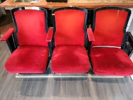 Retro theatre chairs