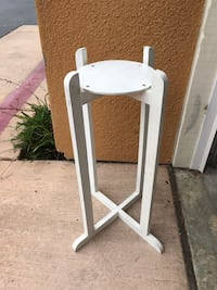 """Tall, wooden plant stand. Plant opening is 10.5"""" diameter.  Stand is 25"""" tall. San Marcos, 92069"""