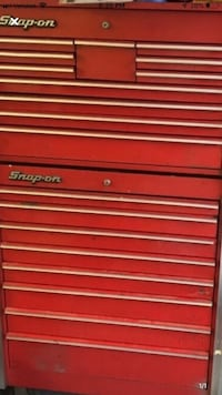 Red snap-on tool cabinet