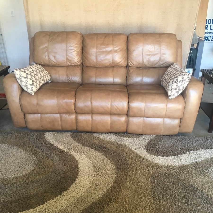 genuine leather flex steel sofa with power motion recliner in rh fr letgo com
